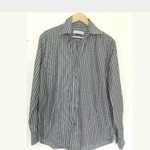 Versace Collection 41/16 Striped Dress Shirt
